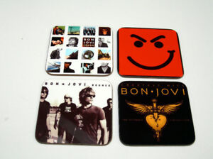 Jon Bon Jovi Album Cover Drinks COASTER Set #2