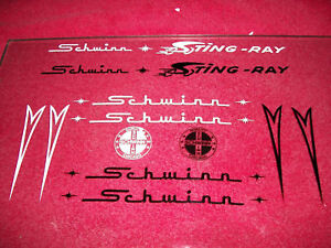 Vintage-Schwinn-Stingray-Decal-Set-Black-or-White