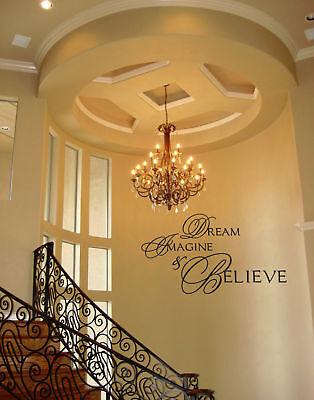 DREAM IMAGINE BELIEVE Vinyl Wall Art  Decor Decal Home on Rummage