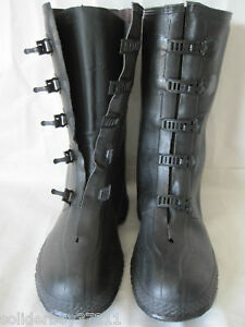 NEW-Surplus-Military-Issue-5-Buckle-Goulash-Rubber-Over-Boots-Rain-Snow-Mens-11