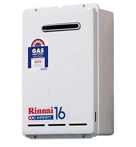 Brand New Rinnai Infinity 16 Hot Water System Natural Gas only & set to 60°C