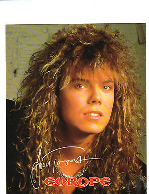 "JOEY TEMPEST - EUROPE 1989 POSTCARD 8"" x 10"" ORIGINAL!!"