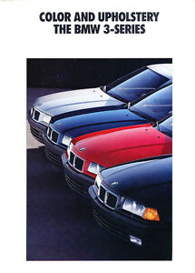 1991 1992 Bmw 3 Series 325i Color Upholstery Brochure Ebay