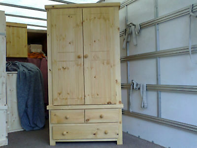 Pine Factory Clearance Shaker 2+1 Drawer Wardrobe Special Price 4 Two
