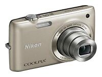 NIKON COOLPIX S4100 14MP SILVER HD 720P DIGITAL CAMERA 5X WIDE OPTICAL ZOOM