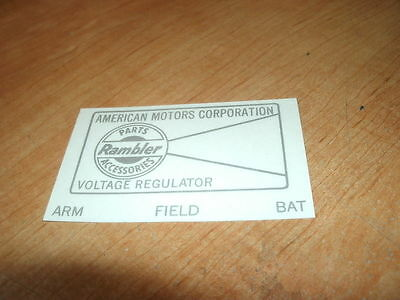 1965 Amc Rambler Classic American Ambassador Voltage Re