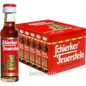 Schierker Feuerstein Kräuter 30x0,02l Miniatur Kräuterlikör Likör aus dem Harz