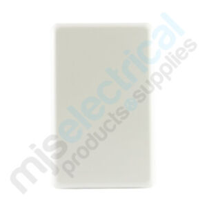 Blank Plate Cover Light Switch White Slimline NEW