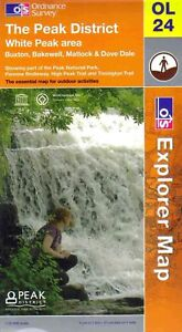 The Peak District Map - Ordnance OS - OL24 - Explorer