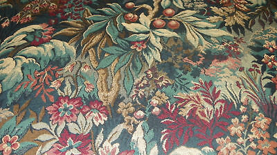 Green Print Tapestry Upholstery Fabric 1 Yard 404gs