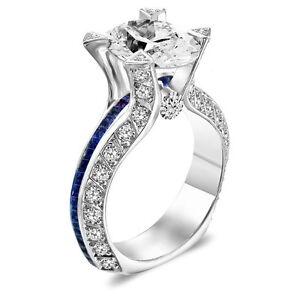 3-25-CT-ROUND-GIA-DIAMOND-BLUE-SAPPHIRE-ROYAL-ENGAGEMENT-RING-18K-VG-CUT