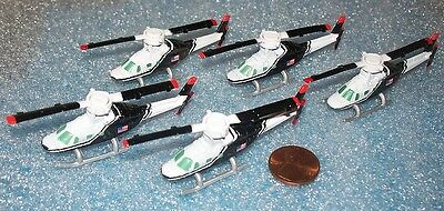 Lot Of 5 Micro Machines Bell 222 Helicopters
