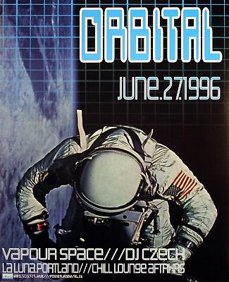 Orbital Dj House Ambient 1996 Original Poster By Frank Kozik S/n