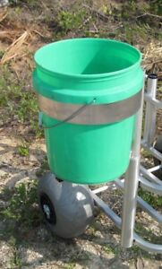 Bucket Holder Option For Beach Carts Hold 5 Gallon Size All Aluminum Made in USA