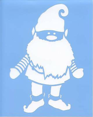 Swedish Norwegian Danish Gnome Elf Blue Laser Stencil Bls-s 4 X5