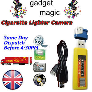 NEW 007 SPY LIGHTER HIDDEN CAMERA DVR CCTV 32GB