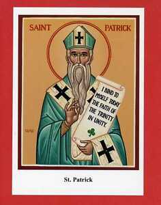 Details about st patrick patron saint of ireland religious icon holy