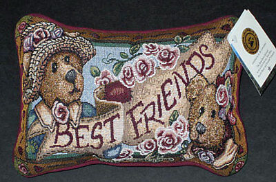 Boyds Bears Afternoon Tea Tapestry Word Pillow