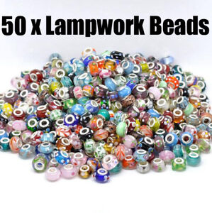 WHOLESALE/BULK Lampwork Glass Beads for CHARM BRACELETS