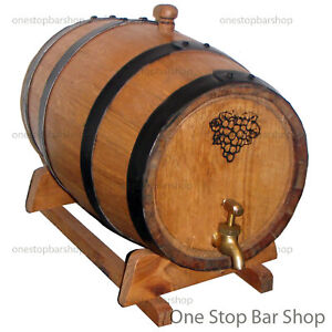 9L American Oak Barrel, Spirit / Port Barrel - Black