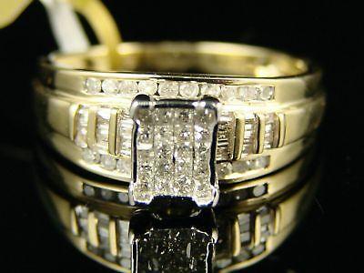 Womens Ladies Princess Engagement Diamond Ring 1/2 Ct
