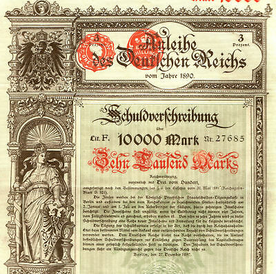 TREASURE TROVE of RARE GERMAN EMPIRE BONDS 1890-1915 to 10,000 MARKS! $100-$1000