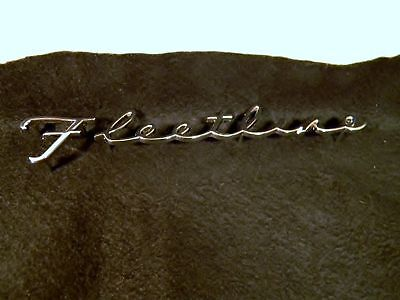 Old School Style Chevrolet Fleetline Script Emblem