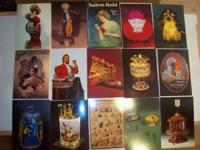 Konvolut 100 nostalgische Postkarten mit alter Tabak Zigaretten Werbung Reclame