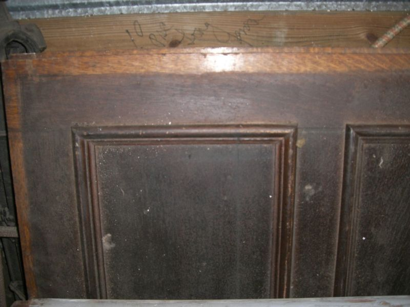 "Tiger Oak wood panel  Wainscot Architectural  Antique  69"" x 41"""