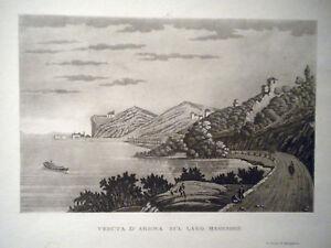 M-Arona-lago-Maggiore-Novara-Carocci-1840-acquatinta-originale