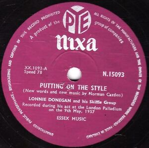1957-UK-1-LONNIE-DONEGAN-78-PUTTING-ON-THE-STYLE-GAMBLIN-MAN-N15093-EX