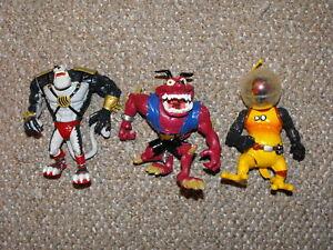 1994-Playmates-Earthworm-Jim-Lot-of-3-Figures-Peter-Puppy-Psycrow-amp-Bob