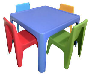 Childrens Table and Chairs - Resin Plastic Kids Table
