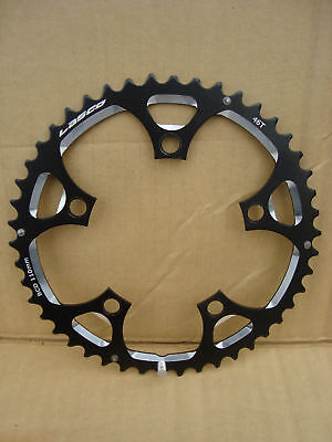 lasco 46 tooth alloy 110 bcd cyclo cross road bike chainring black PMC