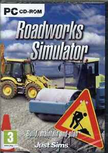 Roadworks Simulator, Digger, Dump Truck, Roller, PC NEW