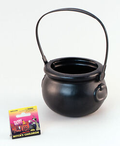 WITCH WITCHES HALLOWEEN PLASTIC CAULDRON POT WITCH FANCY DRESS COSTUME ACCESSORY