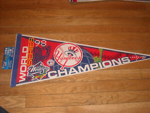 ORIGINAL 1998 NEW YORK YANKEES WORLD SERIES PENNANT