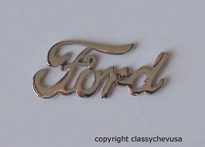 Ford Old Time Script Adhesive Emblem