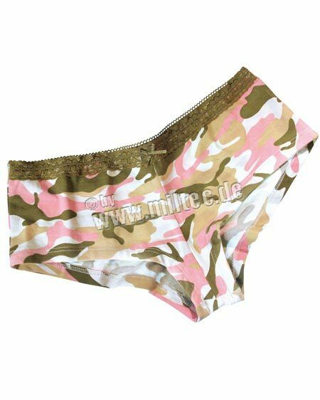 Camouflage Panty Pink Camouflage pattern with lace Gr XS Camo Underwear Panties