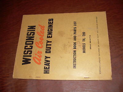 Wisconsin Engine Service Parts List Manual Th Thd 277-b