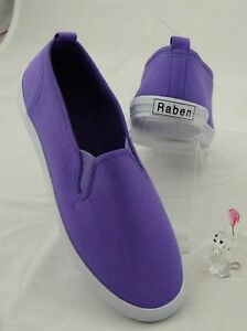 Raben-Shoes-Slip-On-Canvas-Dark-Purple-Size-from-30-to-46