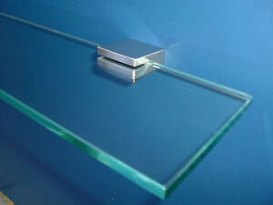 BATHROOM GLASS SHELF 400mm STAINLESS STEEL SHOWER NEW DESIGN