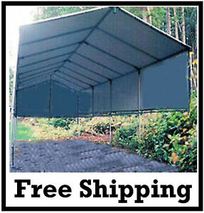 Make your own 12x24 portable carport shelter garage kit rv for Boat garage kits