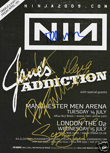 Nine Inch Nails - Janes Addiction Signed Promo Poster