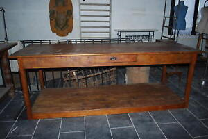 table de drapier ancienne en promotion a saisir ebay. Black Bedroom Furniture Sets. Home Design Ideas