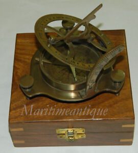 Nautical-Brass-Sundial-Compass-With-anchor-wood-box