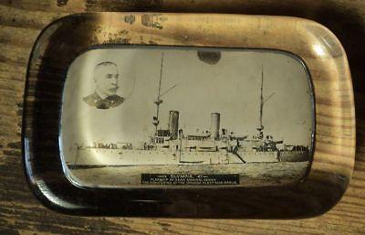 alter Paperweight Olympia Flagship Admiral Dewey Manila