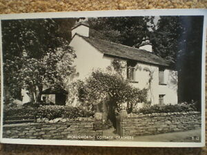 POST-CARD-REAL-PHOTO-1960S-WORDSWORTH-COTTAGE-GRASMERE-CUMBRIA