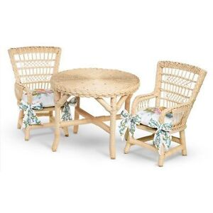 american girl samantha 39 s table and chairs furniture bni ebay. Black Bedroom Furniture Sets. Home Design Ideas
