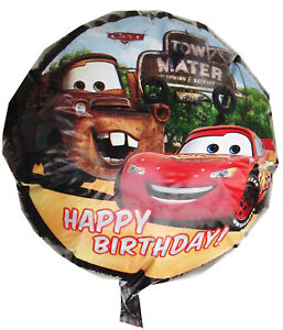 Lightning McQueen (cars) Happy birthday  foil balloon